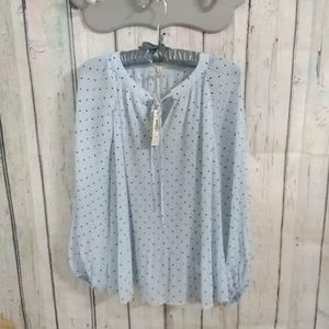 Bubble Sleeve Tunic Blouse